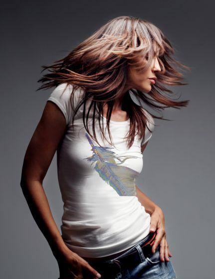 Dámské designové tričko s potiskem ,,Feather,,