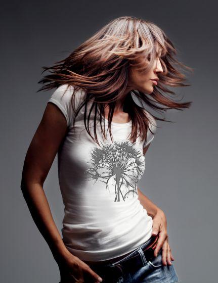 Dámské designové tričko s potiskem ,,Dandelion,,
