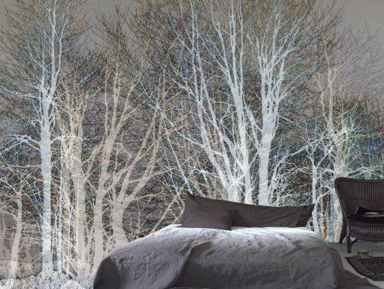 "Luxusní vliesová tapeta ""White trees"""