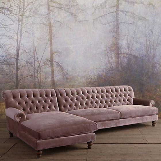 """Luxusní vliesová tapeta """"Old pink forest"""""""