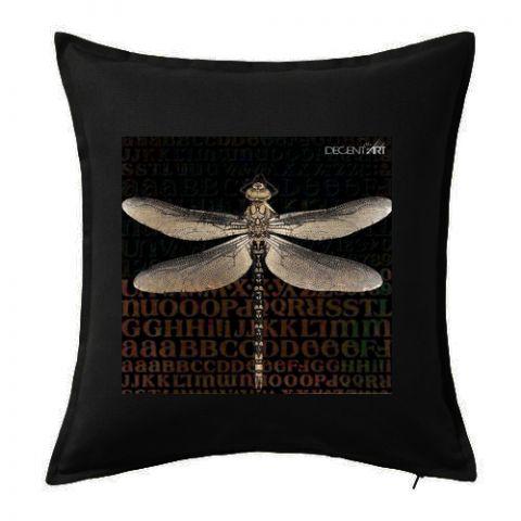 Originální dekorační polštář - povlak Vážka