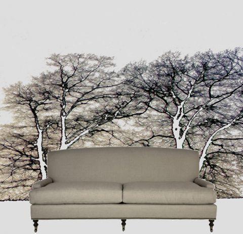 """Luxusní vliesová tapeta """"Two trees"""""""