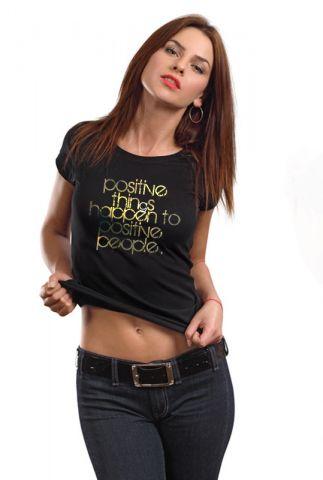 Dámské originální triko s potiskem ,,Positive things,,