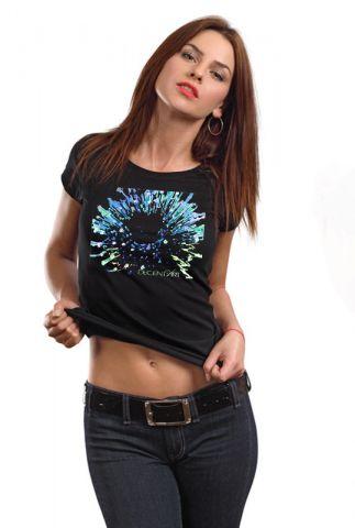 Dámské tričko s potiskem Modrý bodlák