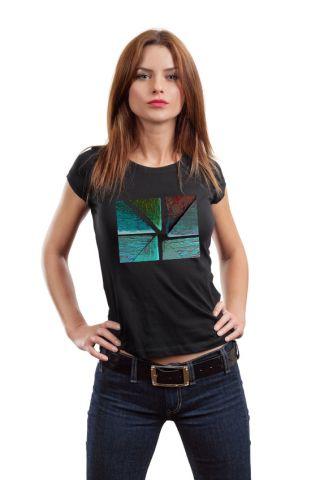 Dámské luxusní tričko s potiskem ,,Abstrakt,,