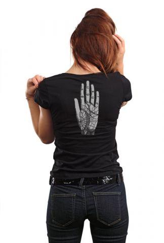 Dámské designové tričko s potiskem ,,Ruka,,