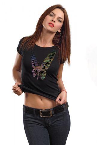 Dámské designové tričko s motýlem