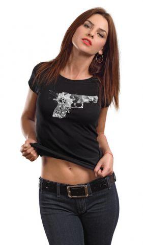 Luxusní dámské triko ,, Flower pistol,,
