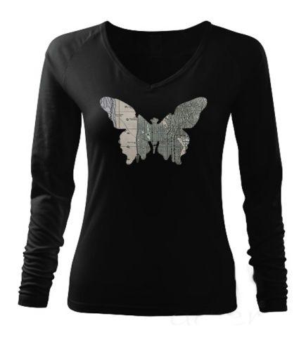 Luxusní dámské tričko s potiskem ,,Motýl z New Yorku,,
