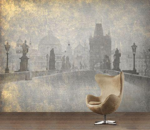 """Luxusní vliesová tapeta """"Vintage style - Charles Bridge"""""""
