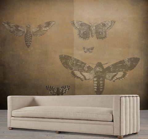 """Luxusní vliesová tapeta """"Vintage style - Moth"""""""