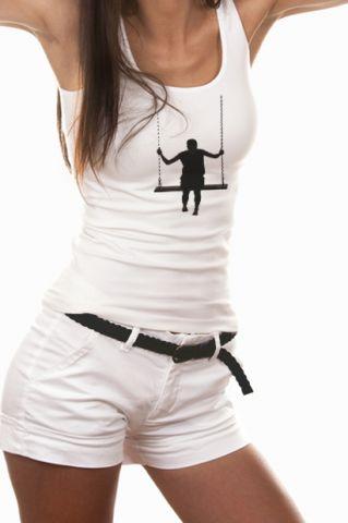 Dámský designový top s potiskem ,,On the swing,,