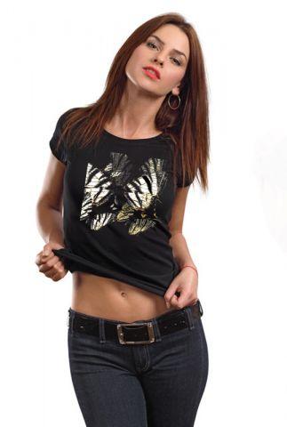 Dámské luxusní triko s potiskem ,,Butterfly,,