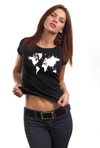 Dámské designové tričko s potiskem ,,World,,