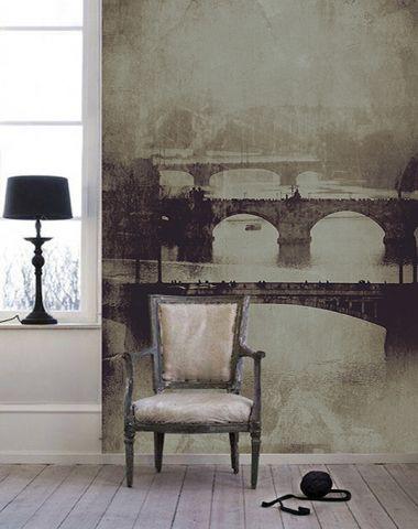 """Luxusní vliesová tapeta """"Prague bridges"""" z kolekce Beton story"""