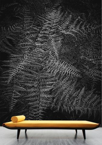 """Luxusní vliesová tapeta """"Fern"""" z kolekce Beton story"""