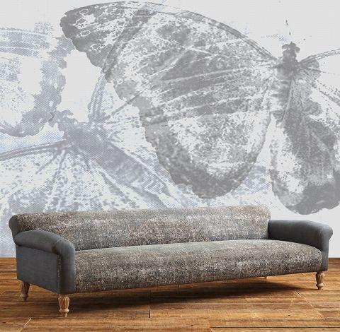 "Luxusní vliesová tapeta ""Gray butterflies"""