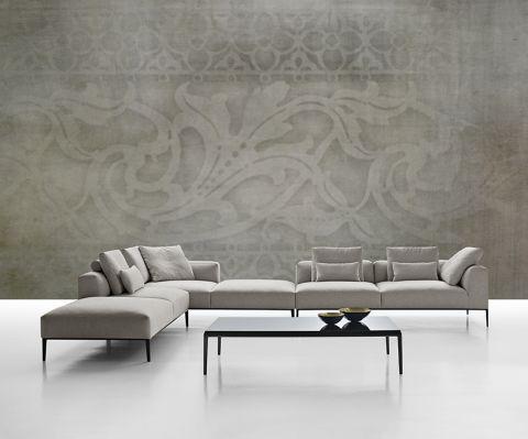 """Luxusní vliesová tapeta """"Decorative beige"""" z kolekce Beton story"""