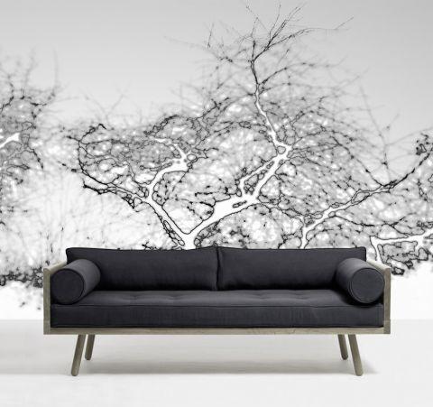 """Luxusní vliesová tapeta """"Gray trees"""" z kolekce Beton story"""