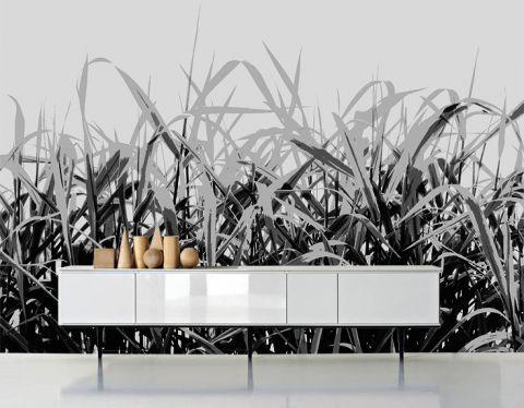 """Luxusní vliesová tapeta """"Reeds in gray tones"""""""