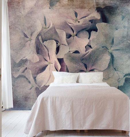 """Luxusní vliesová tapeta """"Old pink hydrangea"""""""