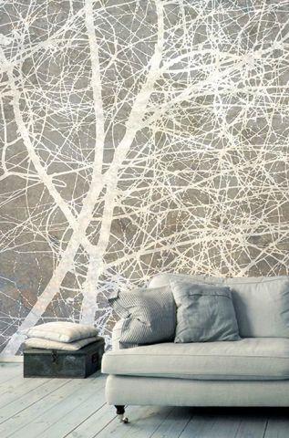 """Luxusní vliesová tapeta """" White branches"""""""