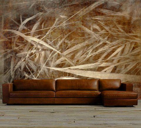 "Luxusní vliesová tapeta ""Grass in brown"""