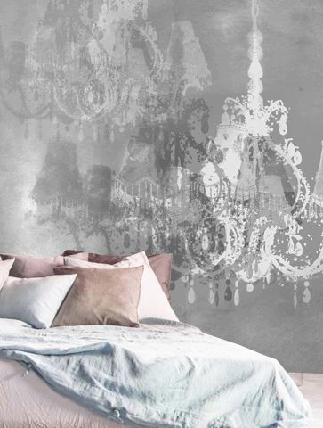 """Luxusní vliesová tapeta """" Crystal Chandelier"""" z kolekce Beton story"""