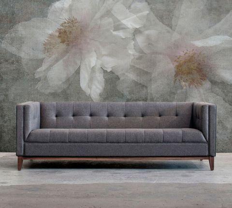 """Luxusní vliesová tapeta """"Two flower"""" z kolekce Beton story"""