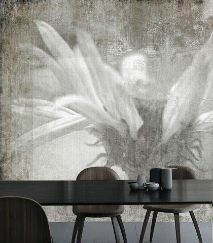"""Luxusní vliesová tapeta """"Echinacea"""" z kolekce Beton story"""
