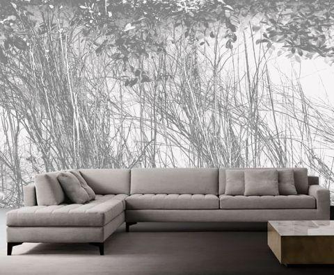 Luxusní vliesová tapeta White bushes