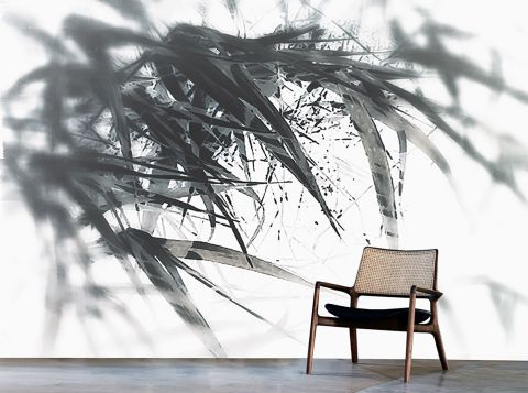 """Luxusní vliesová tapeta """"River grass"""" z kolekce Beton story"""