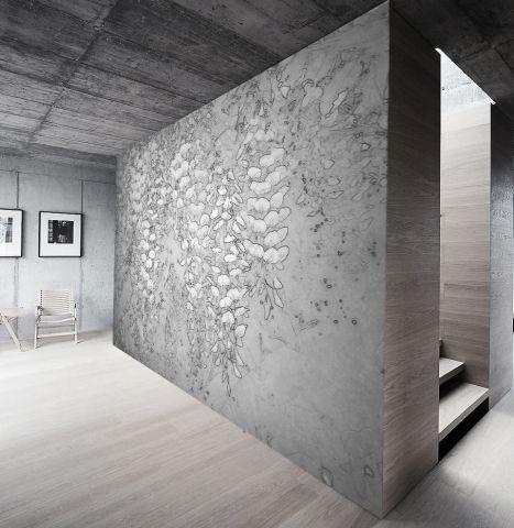 """Luxusní vliesová tapeta """"White vistarium´´ z kolekce Beton story"""