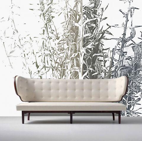 """Luxusní vliesová tapeta """"Blue Plantain-lily"""" z kolekce Beton story"""