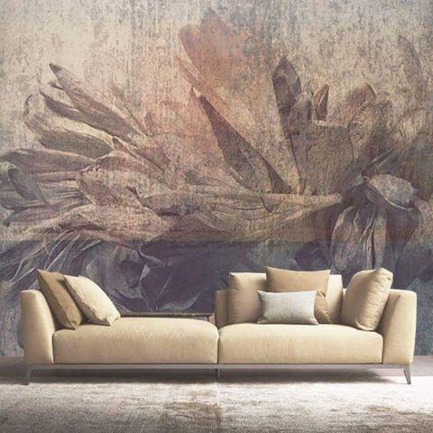 Luxusní vliesová tapeta Dry flowers