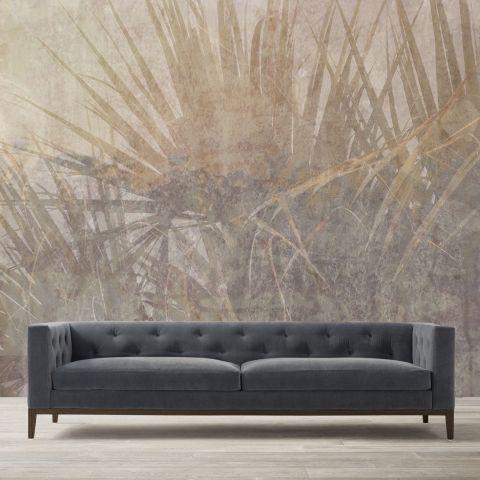 Luxusní vliesová tapeta Beige plants