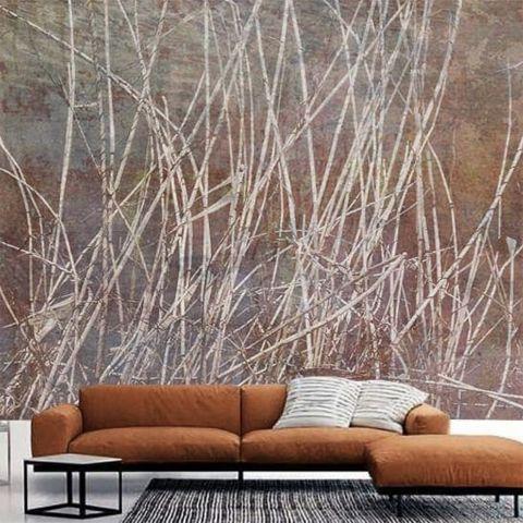 Luxusní vliesová tapeta Copper reeds