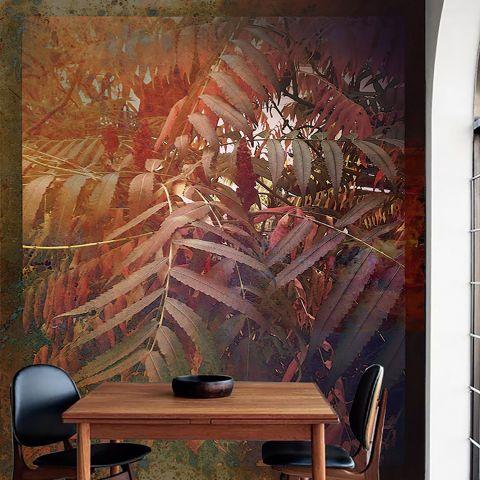 """Luxusní vliesová tapeta """"Colorful plant"""" z kolekce Beton story"""