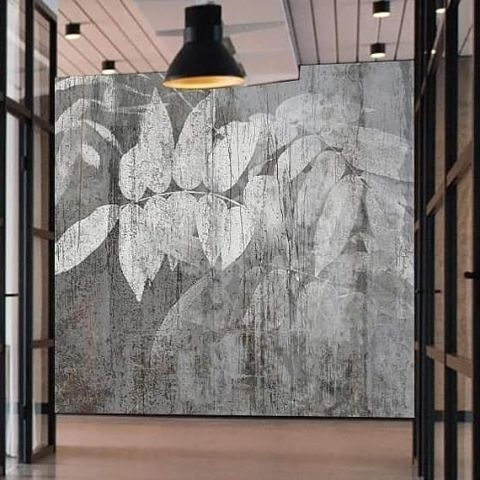 "Luxusní vliesová tapeta ""Vistaria in concrete"""