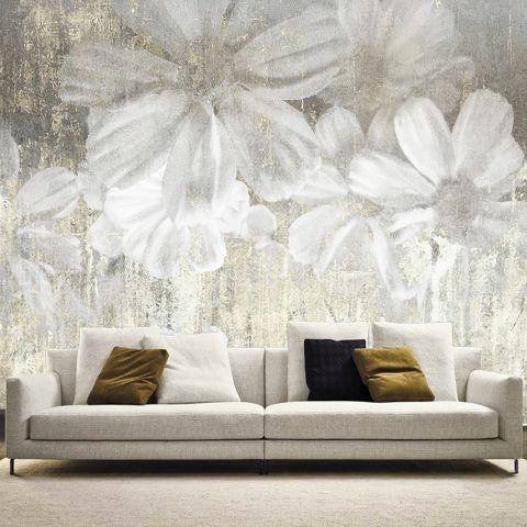 """Luxusní vliesová tapeta """"White flowers"""""""