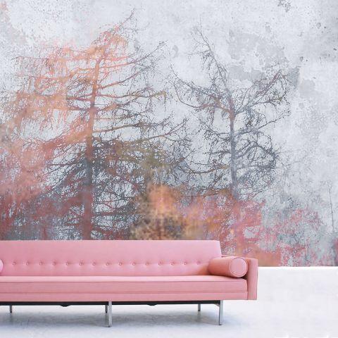 """Luxusní vliesová tapeta """"Pink forest"""""""