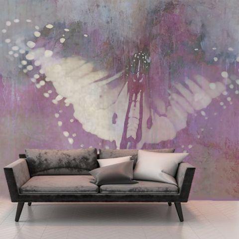 """Luxusní vliesová tapeta """"Pink butterfly"""""""